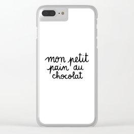 Mon petit pan au chocolat Clear iPhone Case