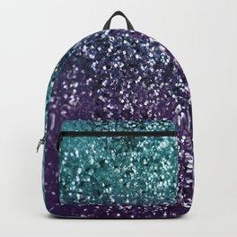 Aqua Purple Ombre Glitter #1 #decor #art #society6 Backpack