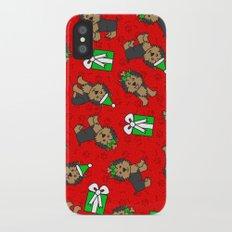 Merry Yorkies iPhone X Slim Case