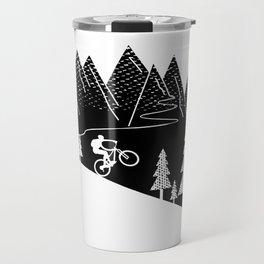 mountain bike MTB cycling mountain biker cycling bicycle cyclist gift Travel Mug