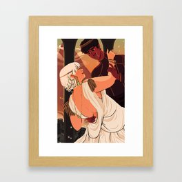 The Dumpling Princess - THE WEDDING Framed Art Print