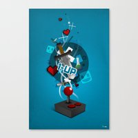 gaming Canvas Prints featuring I ❤ GAMING by Mikhail St-Denis