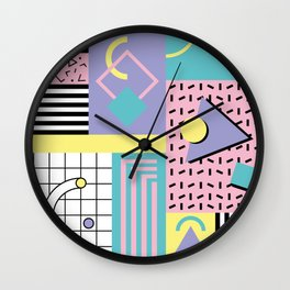 Memphis Pattern 27 - 80s - 90s Retro / 1st year anniversary design Wall Clock