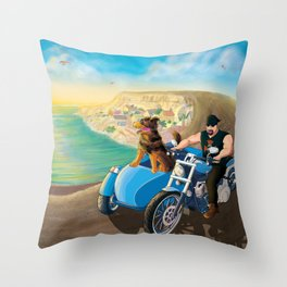 Riding with Rocco Throw Pillow