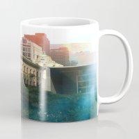 manhattan Mugs featuring Manhattan by Keira Madsen