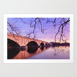 Arlington Memorial Bridge during sunrise Art Print