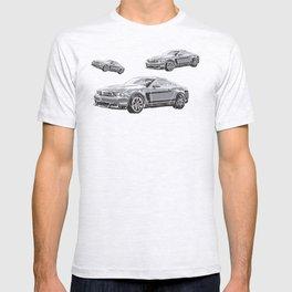 Mustang Digital Painting - Greyscale T-shirt