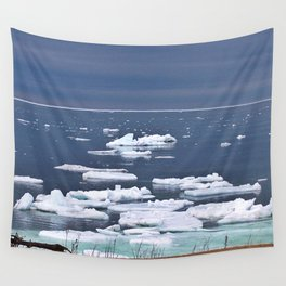 Icebergs on a Calm Sea Wall Tapestry