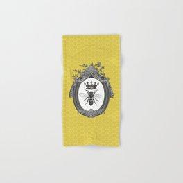 Queen Bee | Vintage Bee with Crown | Honeycomb | Hand & Bath Towel