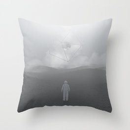 Lost Astronaut Series #04 - Icosa/Bucky Throw Pillow