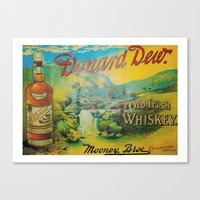 whiskey Canvas Prints featuring Old Whiskey by Peaky40