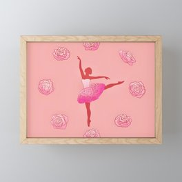 Floral ballet dancer Framed Mini Art Print