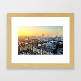 On a Cold and Frosty Morning Framed Art Print