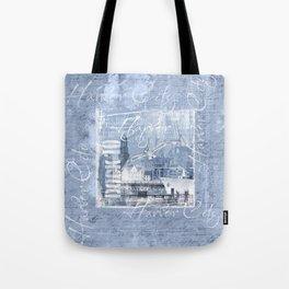 Harbor City Hamburg Germany mixed media Art Tote Bag