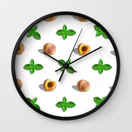 Peach & Mint Wall Clock