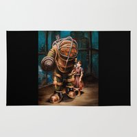 bioshock infinite Area & Throw Rugs featuring Bioshock by Emily Blythe Jones