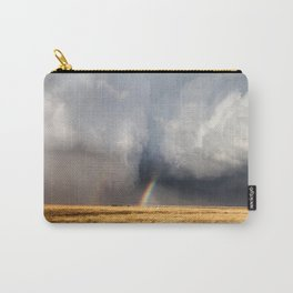 Follow the Rainbow - Bright Rainbow Between Storm Clouds Carry-All Pouch
