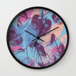 Colorful abstract leaves 1 Wall Clock