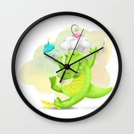 Slippery gator Wall Clock