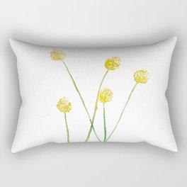 Yellow Billy Button Flowers Rectangular Pillow