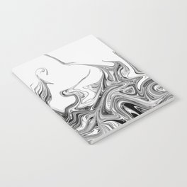 Modern contemporary Black and White Abstract Notebook