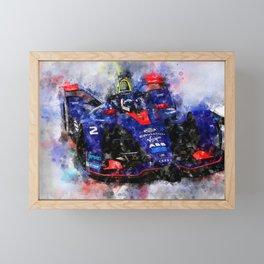 Sam Bird, Formula E Framed Mini Art Print