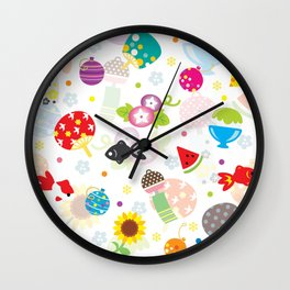 Happy Natsu things Wall Clock