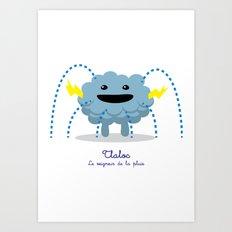 Tlaloc - Le seigneur de la pluie (Lil Gods) Art Print
