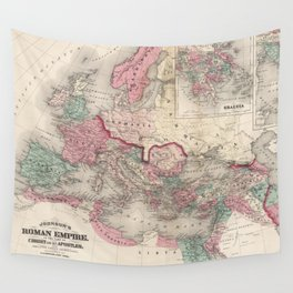 Vintage Map of The Roman Empire (1870) Wall Tapestry