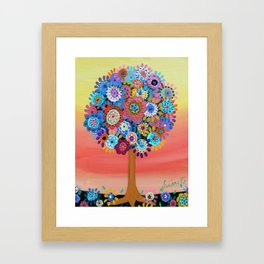 TREE OF LIFE BAR BAT MITZVAH PAINTING Framed Art Print