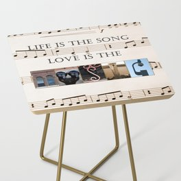 Love of Music Side Table