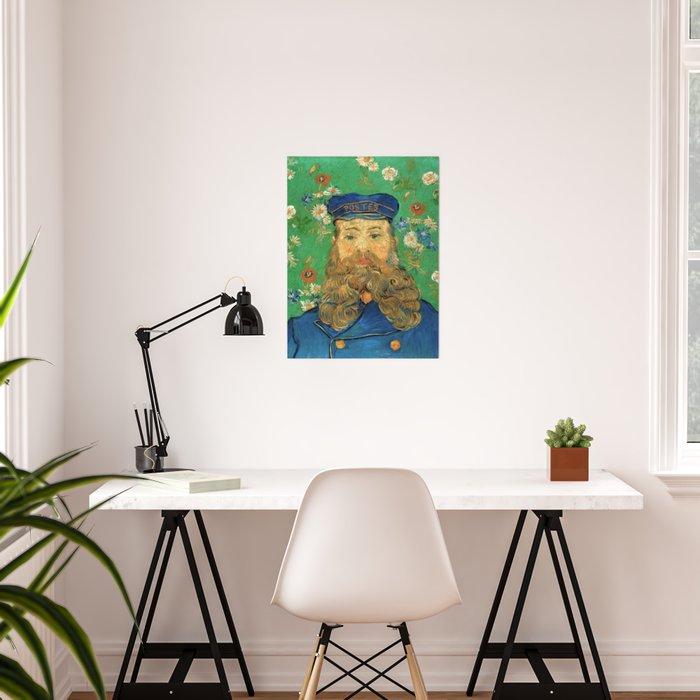 Portrait of Joseph Roulin by Vincent Van Gogh, 1889 Poster