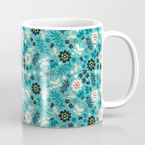 Fresh Blossoms (Greens) Mug