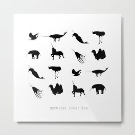 Typology of Mythical Creatures Metal Print