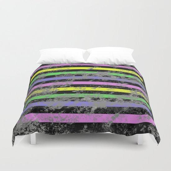 Linear Breakthrough - Abstract, geometric, textured artwork Duvet Cover