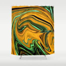 Wormhole Orange Shower Curtain