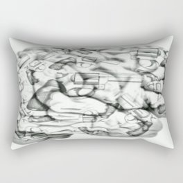 Human Brain weapon orig Rectangular Pillow