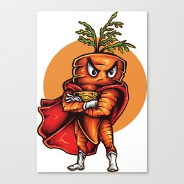 The Angry Carrot / Foodietoon Canvas Print
