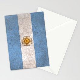 Argentina Flag (Vintage / Distressed) Stationery Cards