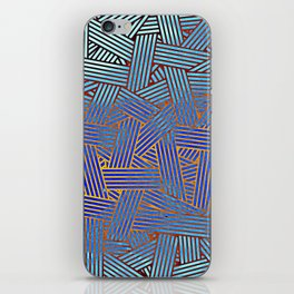 Blue gradient abstract lines iPhone Skin