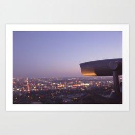 Angel City Lights, L.A. at Night, No. 3 Art Print