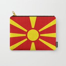 Flag of Macedonia - authentic (High Quality image) Carry-All Pouch