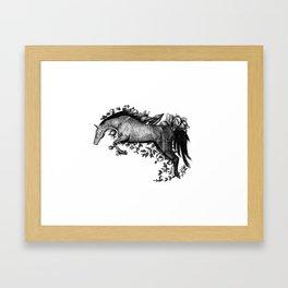 Horse - Go Vegan Framed Art Print