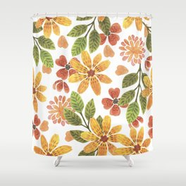 sunny flowerbed Shower Curtain