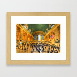 Grand Central Station New York Framed Art Print