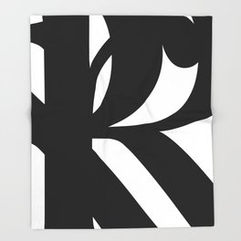 Hidden Letters. Baskerville R Throw Blanket
