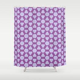 Purple Freeman Lattice Shower Curtain