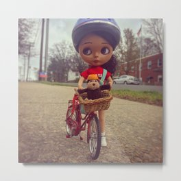 Bicycle Ride Metal Print