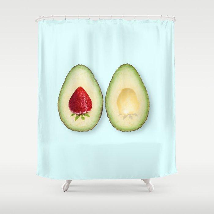 Avocado strawberries Shower Curtain