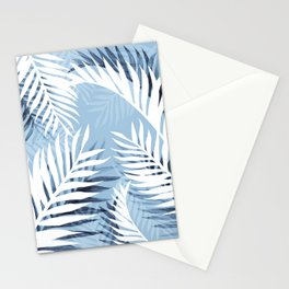 Tropical bliss - chambray blue Stationery Cards